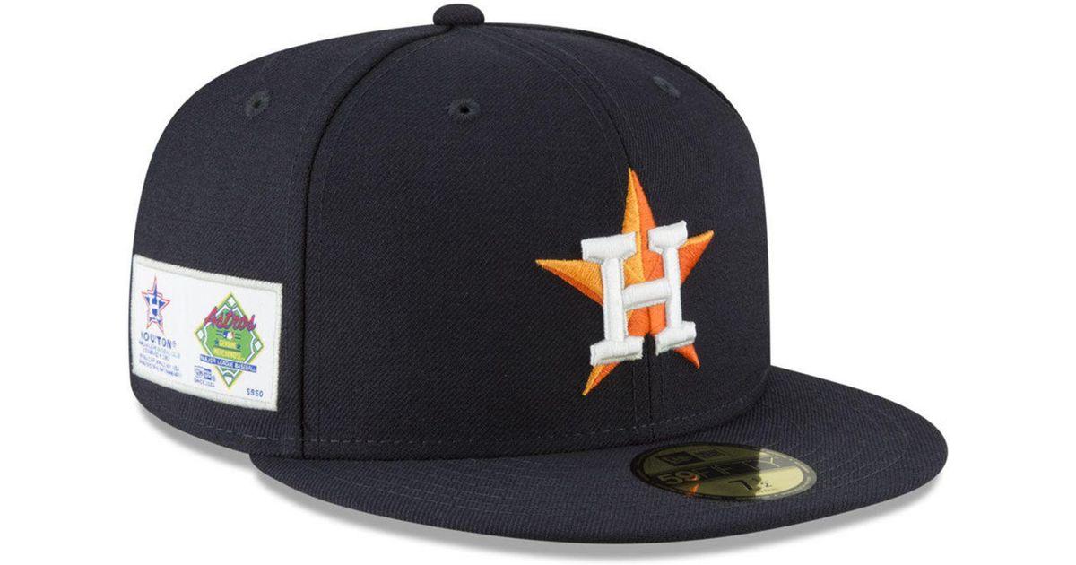 bb889b73 KTZ Blue Houston Astros Jersey Custom 59fifty Fitted Cap for men