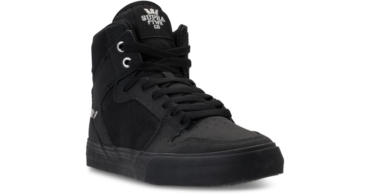 Supra Black Vaider Casual Skate High Top Sneakers From Finish Line for men