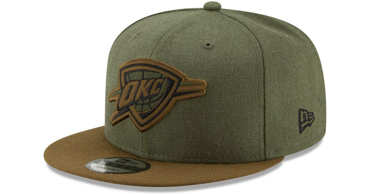 best service a3619 00344 ... spain lyst ktz oklahoma city thunder enlisted 9fifty snapback cap in  green for men 2991f 833f4
