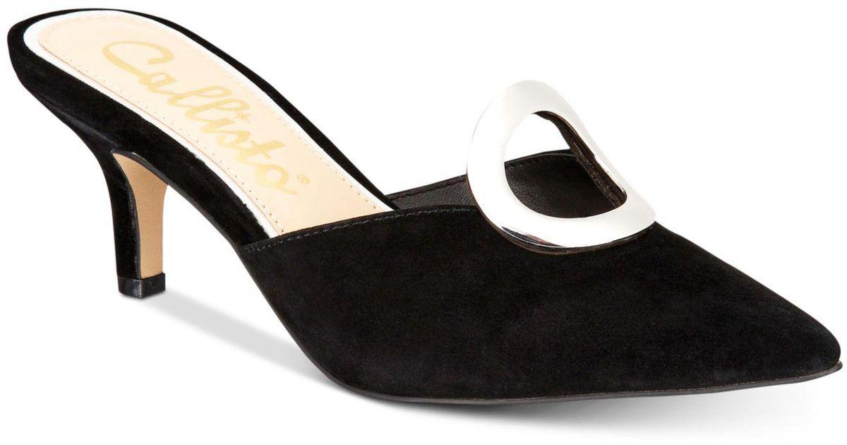 615aa6ed50 Callisto Grandy Pointed-toe Kitten-heel Mules, Created For Macy's in Black  - Lyst