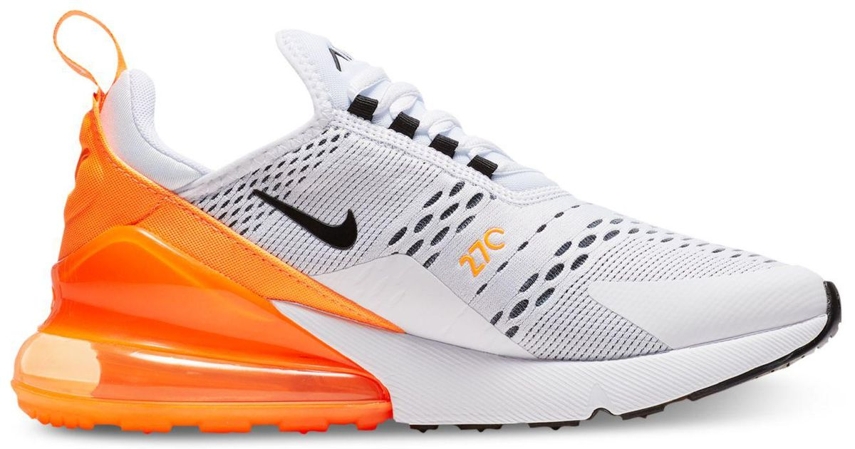 newest 6aaea 31e57 Nike White Air Max 270 Casual Sneakers From Finish Line