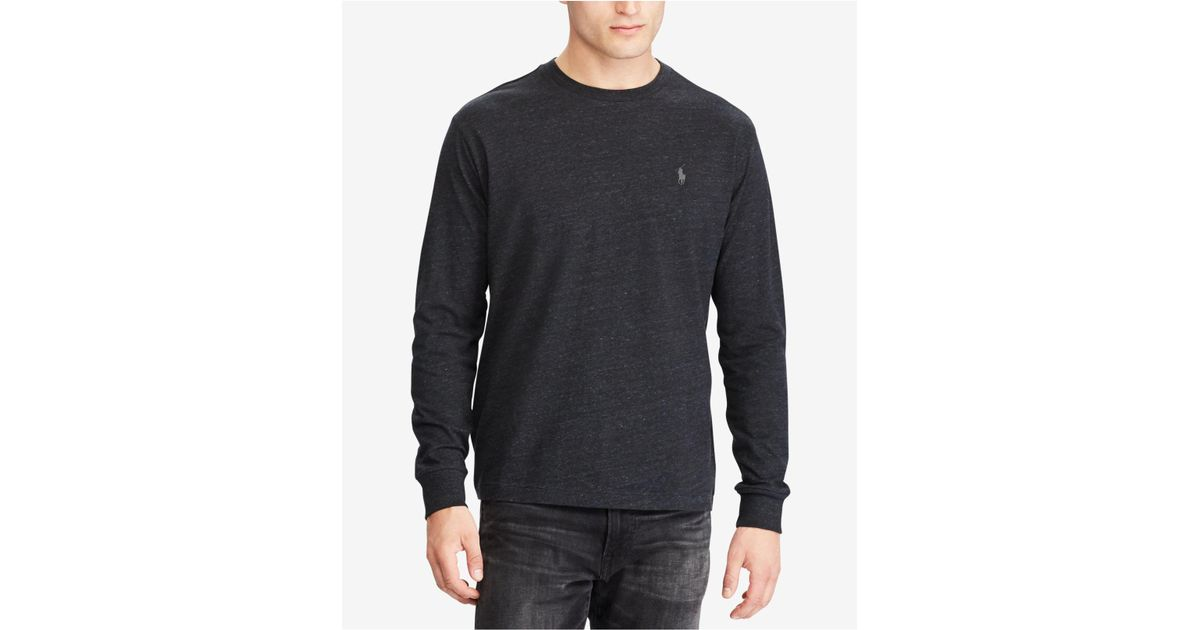 Lyst - Polo Ralph Lauren Classic-fit Long-sleeve T-shirt in Black for Men ba232ba8b280