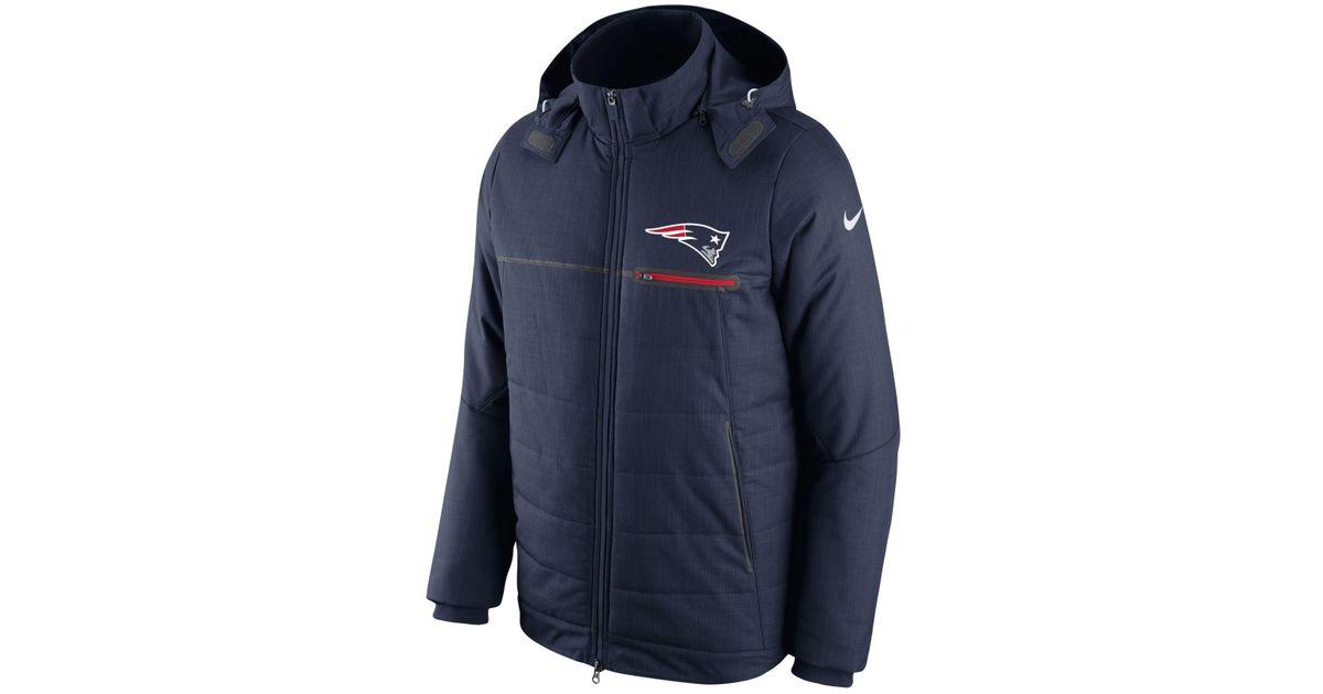 reputable site b3487 16862 Nike Blue New England Patriots Sideline Jacket for men