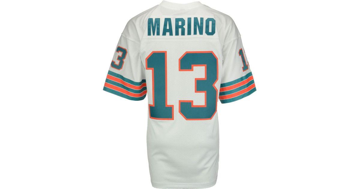 wholesale dealer 9e81a e5d19 Mitchell & Ness White Men's Dan Marino Miami Dolphins Replica Throwback  Jersey for men