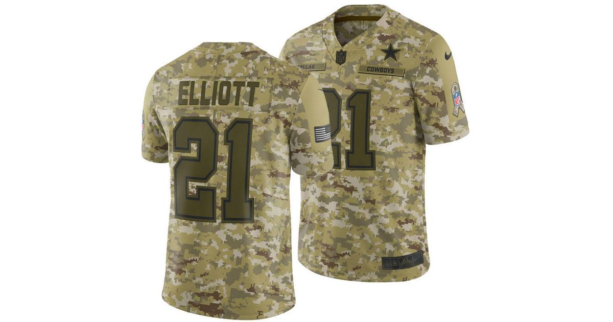 quality design b94c7 b0d32 Nike Green Ezekiel Elliott Dallas Cowboys Salute To Service Jersey 2018 for  men