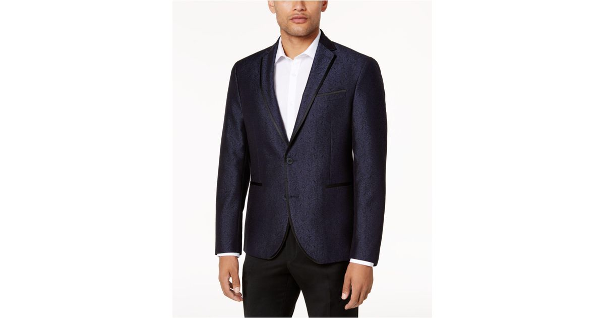 264bb7130 Kenneth Cole Reaction Blue Men's Slim-fit Navy Shine Dinner Jacket for men