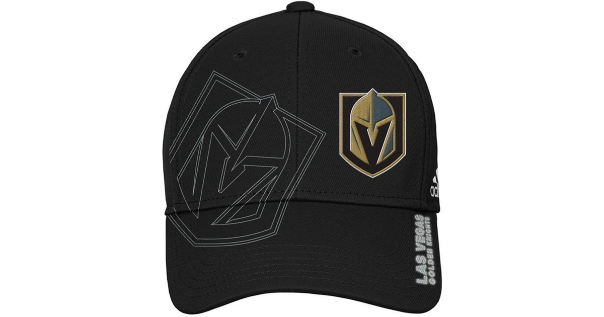 e8b7a8b4 Adidas Black Vegas Golden Knights 2nd Season Flex Cap for men