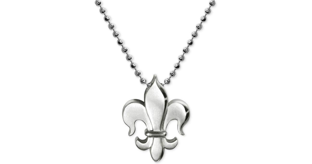Lyst alex woo little faith fleur de lis pendant necklace in lyst alex woo little faith fleur de lis pendant necklace in sterling silver in metallic aloadofball Gallery