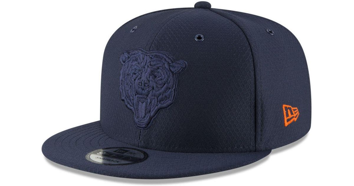 b54616602dd Lyst - KTZ Chicago Bears On Field Color Rush 9fifty Snapback Cap in Blue for  Men