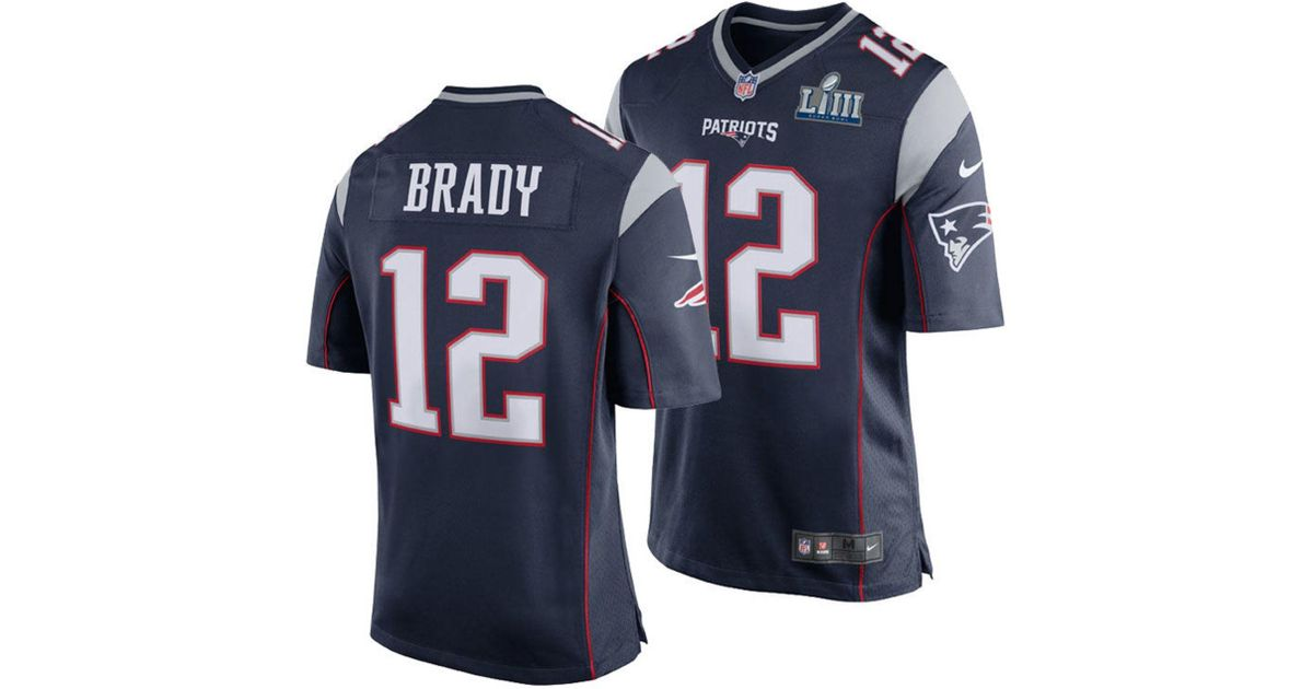 the latest 15ffc 0ea95 Nike Blue Nfl New England Patriots (tom Brady) American Football Home Game  Jersey for men