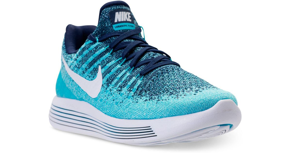 brand new 13a51 aaf22 Nike Blue Lunarepic Low Flyknit 2 Running Sneakers From Finish Line for men