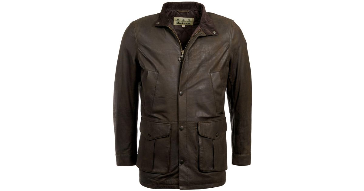 4cd80b9fb Barbour Green Thomas Leather Jacket for men