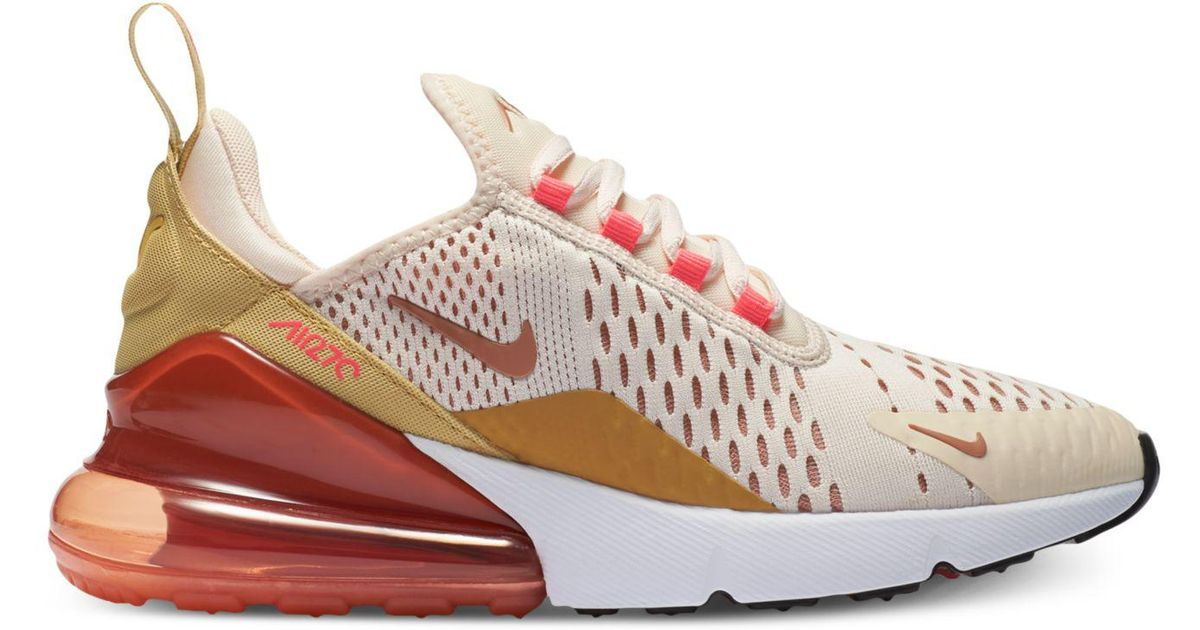 Lyst - Nike Air Max 270 Casual Sneakers From Finish Line in Pink 76b8927a5716