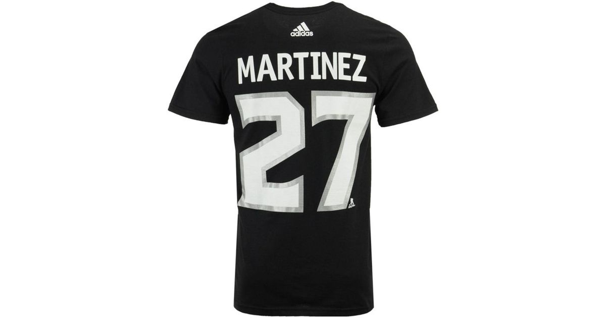 new style e461f daa7a Adidas Black Alec Martinez Los Angeles Kings Silver Player T-shirt for men