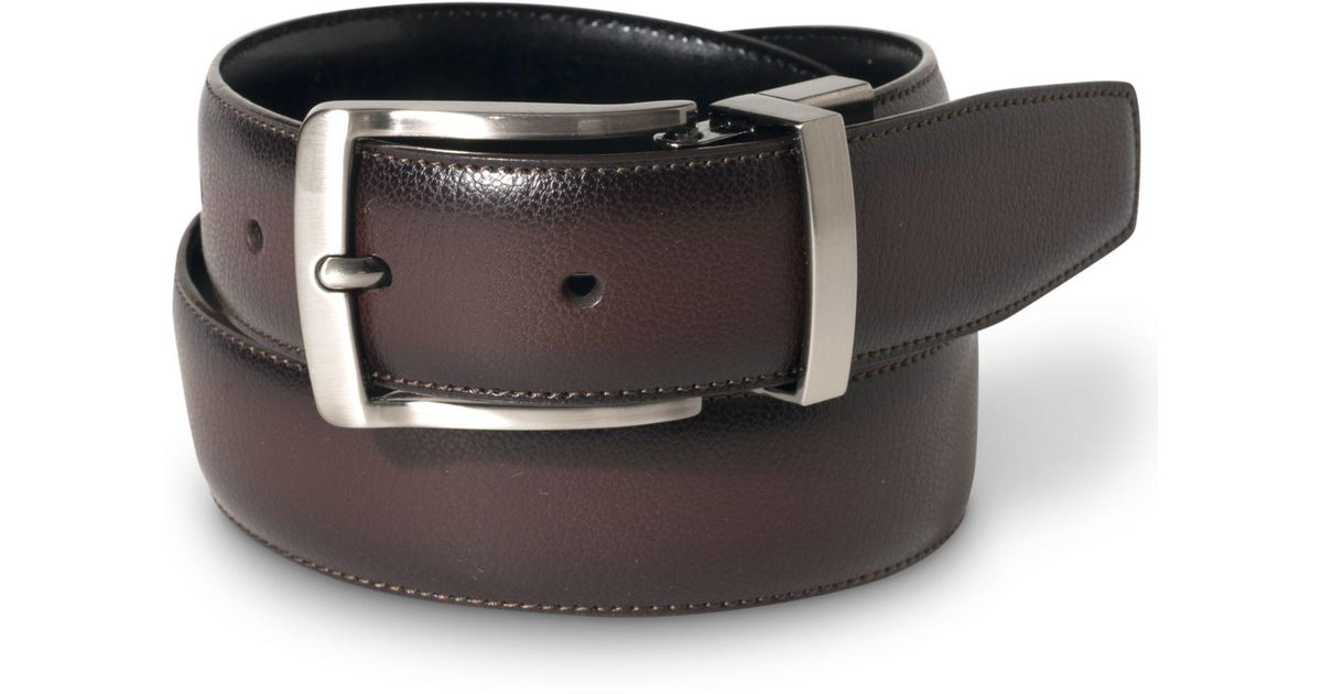 Perry Ellis Men/'s Portfolio Park Ave Belt Park Avenue Prong buckle closure