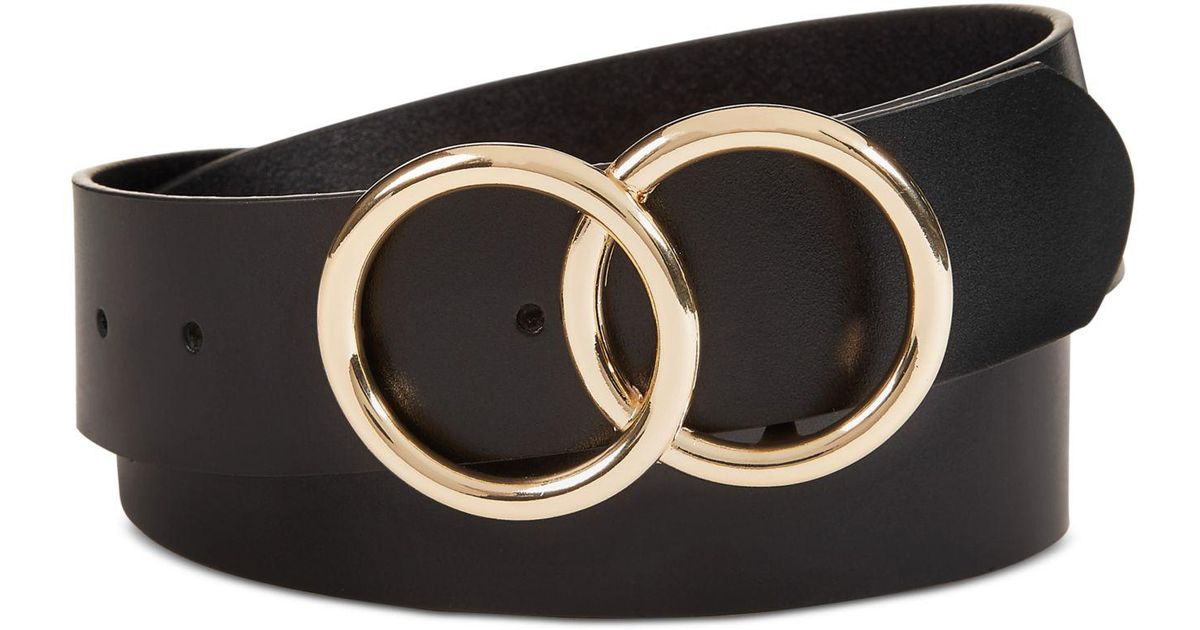 0d76b7e4845 INC International Concepts I.n.c. Double Circle Belt, Created For Macy's in  Black - Save 39% - Lyst