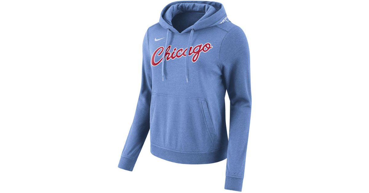 super popular 2225b 553cd Nike Blue Chicago Bulls Club City Edition Hooded Sweatshirt