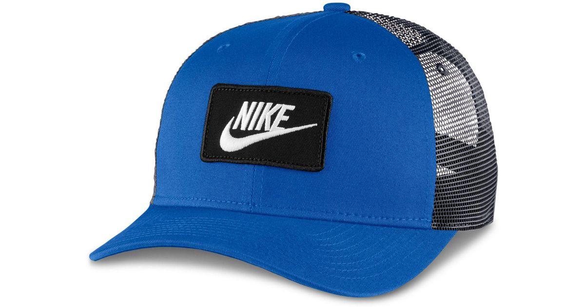 ce6617dd351b0 Nike Sportswear Classic Trucker Hat in Blue for Men - Lyst