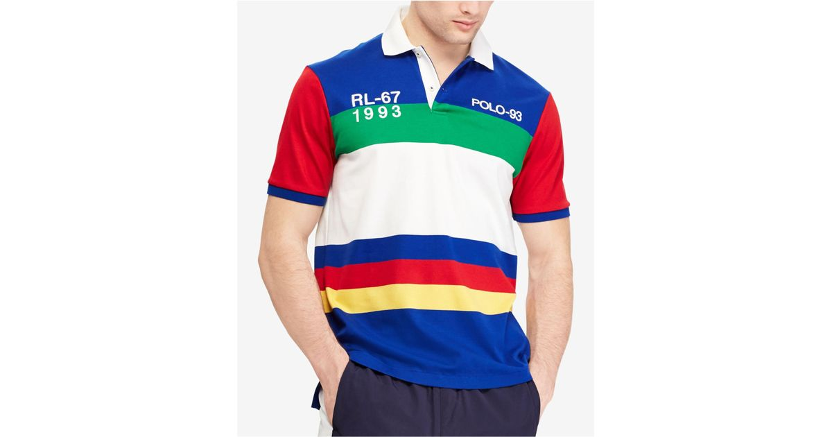 Clothing, Shoes & Accessories Men's Clothing Polo Ralph Lauren Men's Cruise Blue CP-93 Classic Fit Short Sleeve Polo Shirt