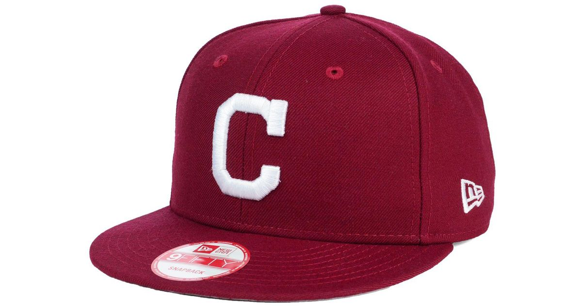 half off f0519 cad95 Lyst - KTZ Cleveland Indians C-dub 9fifty Snapback Cap in Red for Men