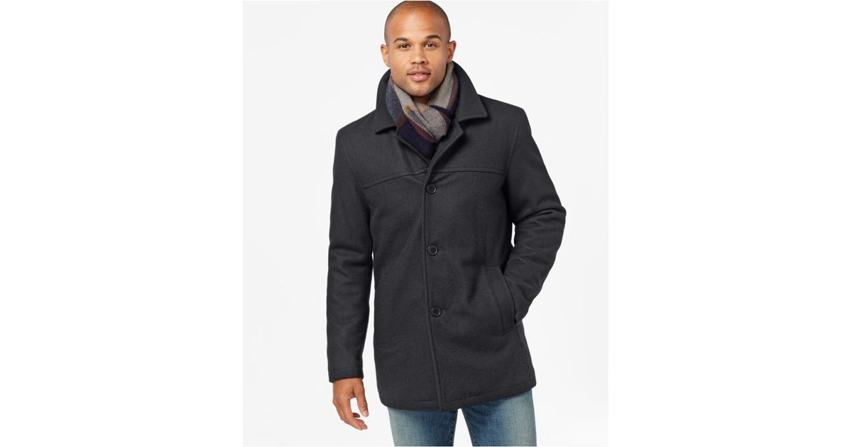 Tommy Hilfiger Melton Peacoat With, Tommy Hilfiger Peacoat With Scarf