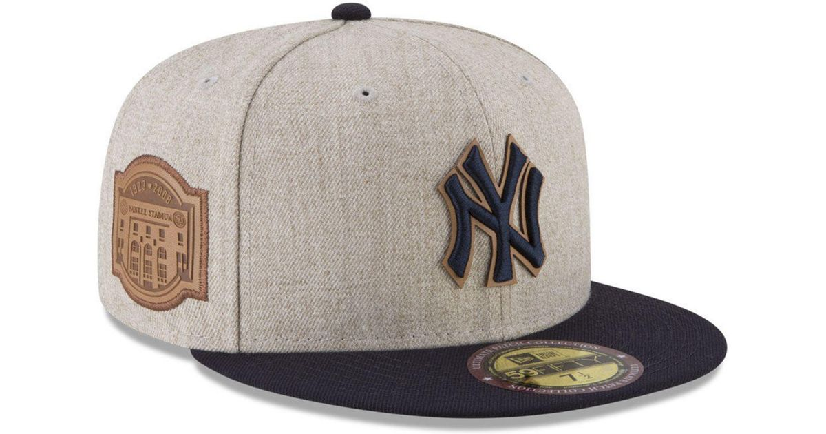 huge selection of f382a 32397 KTZ New York Yankees Leather Ultimate Patch Collection 59fifty Fitted Cap  for Men - Lyst