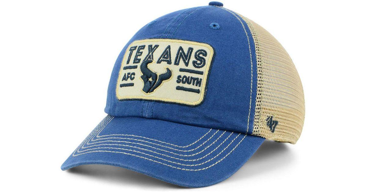 best deals on entire collection huge sale 47 Brand Cotton Houston Texans Sallana Mesh Clean Up Cap in Navy ...