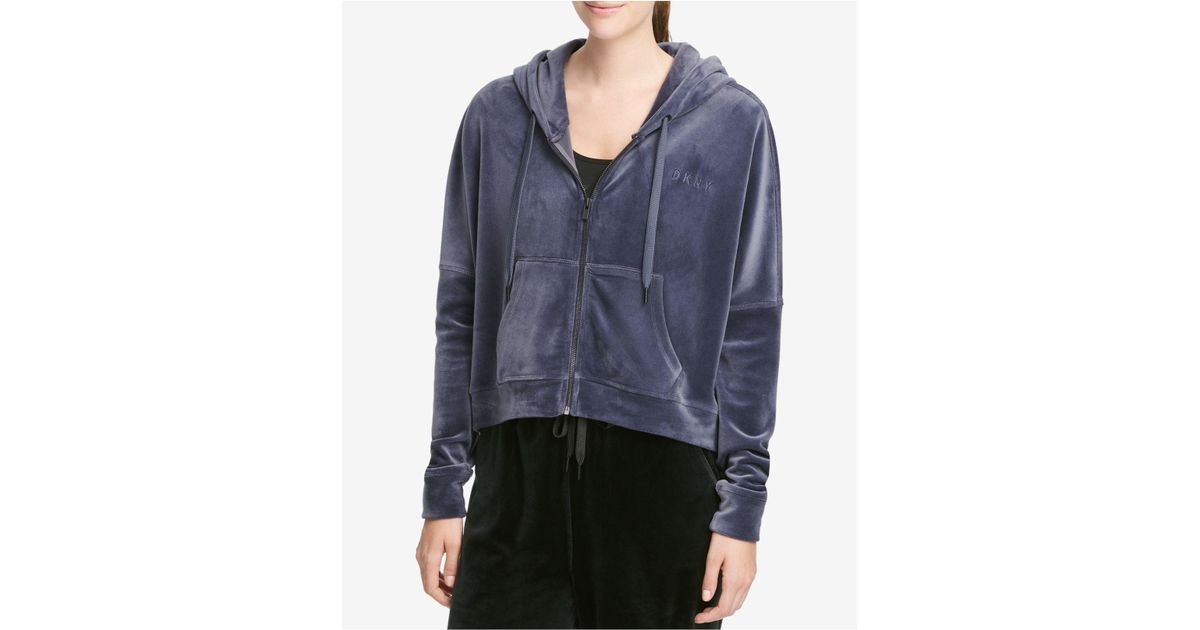 buy cheap fashionable style save up to 80% DKNY Multicolor Sport Velour Cropped Hoodie