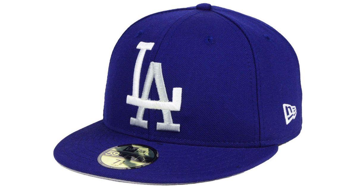 buy online 3f1d8 6aba8 ... australia lyst ktz los angeles dodgers custom color 59fifty cap in blue  for men 9b2db d24a6