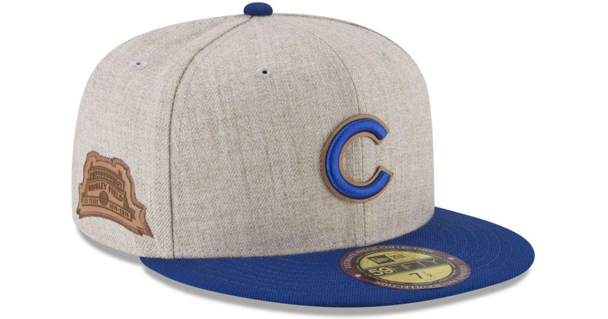 separation shoes 88a50 dc35d KTZ Chicago Cubs Leather Ultimate Patch Collection 59fifty Fitted Cap for  Men - Lyst