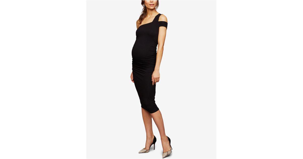 919d6178ea0e6 Isabella Oliver Maternity Cold-shoulder Sheath Dress in Black - Lyst