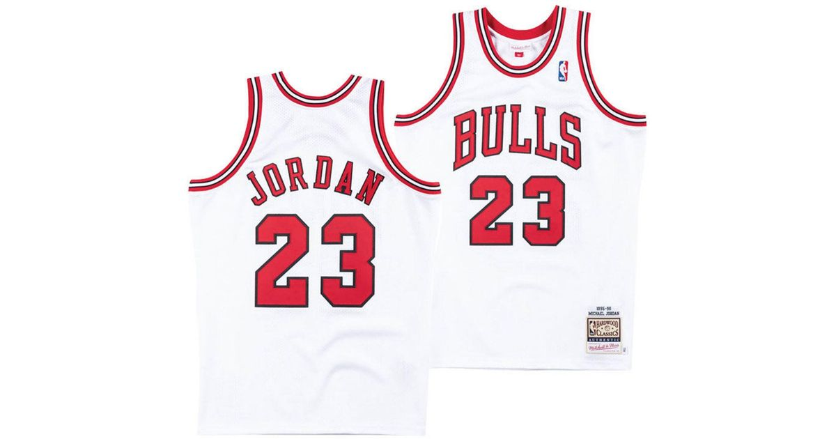 newest collection 21b25 3a417 Mitchell & Ness White Michael Jordan Chicago Bulls Authentic Jersey for men