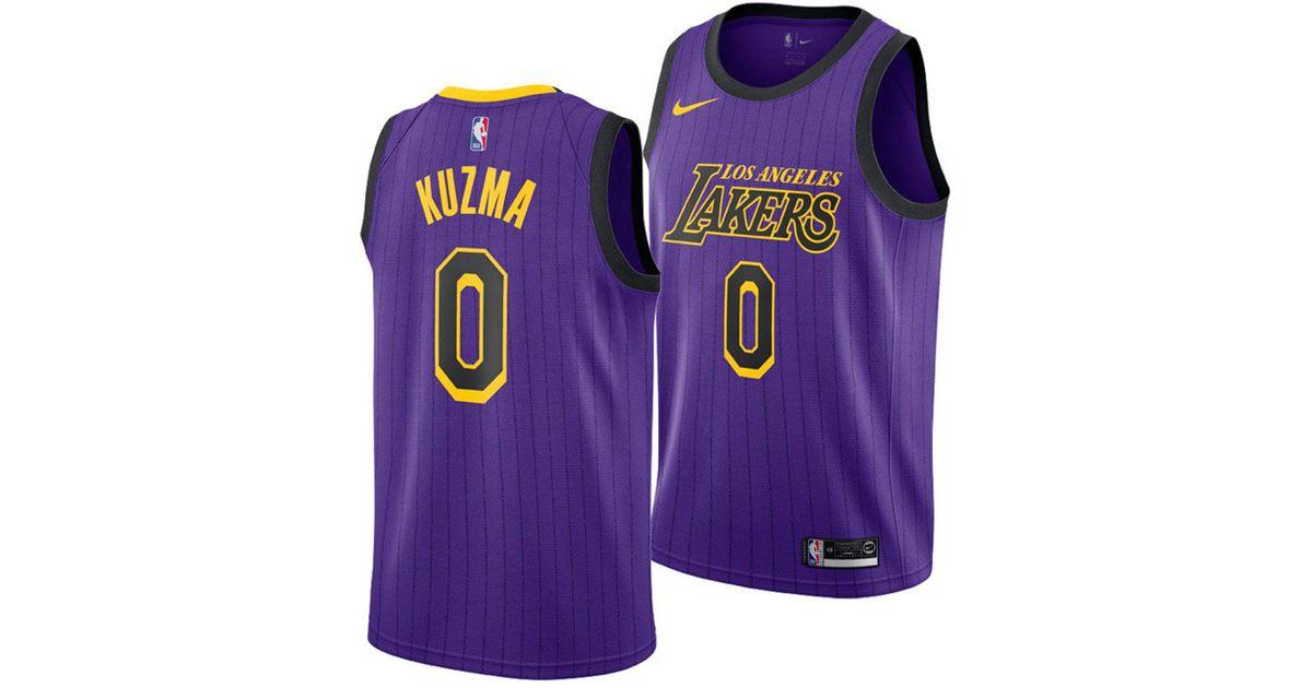 huge inventory b00e7 371a1 Nike Purple Kyle Kuzma Los Angeles Lakers City Swingman Jersey 2018 for men