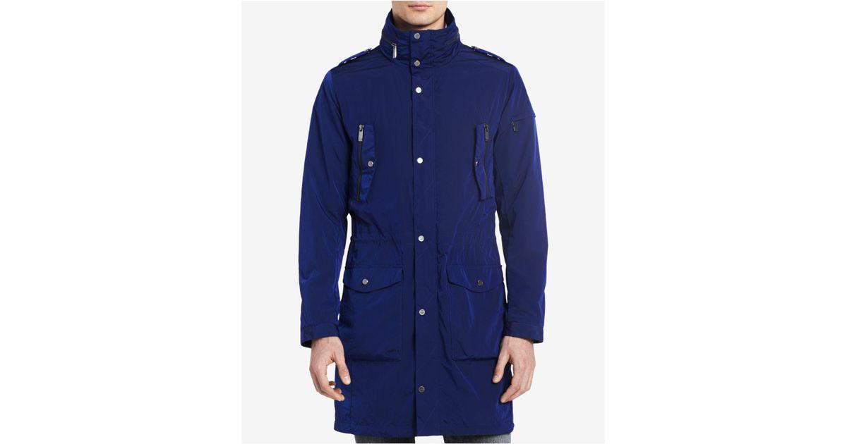 8a53c4f44db Calvin Klein Blue Men's Four-pocket Lightweight Parka for men