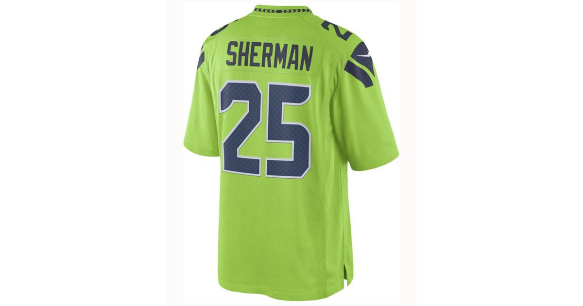 newest collection 130ed 8aa27 Nike Green Richard Sherman Seattle Seahawks Limited Color Rush Jersey for  men