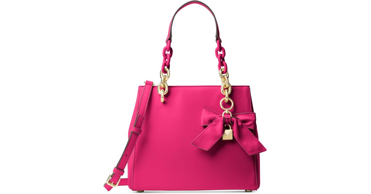 ca2319f8b4e318 Michael Kors Cynthia Small North/south Convertible Satchel in Pink - Lyst