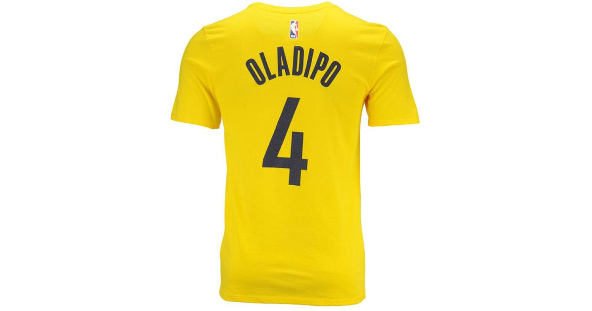 official photos 0adcf c1d57 Nike Yellow Victor Oladipo Indiana Pacers Statement Player T-shirt for men