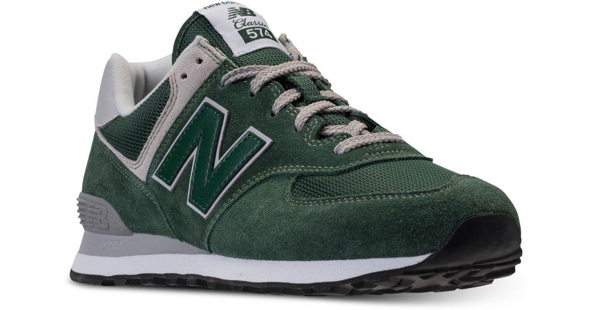 yermo aficionado mercenario  New Balance Suede 574 Casual Sneakers From Finish Line in Green for Men -  Lyst