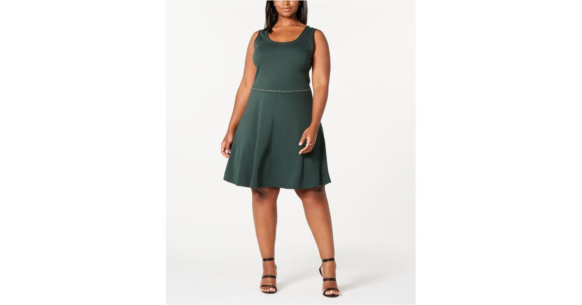 Derek Heart - Green Trendy Plus Size Juniors\' Studded Tank Dress - Lyst
