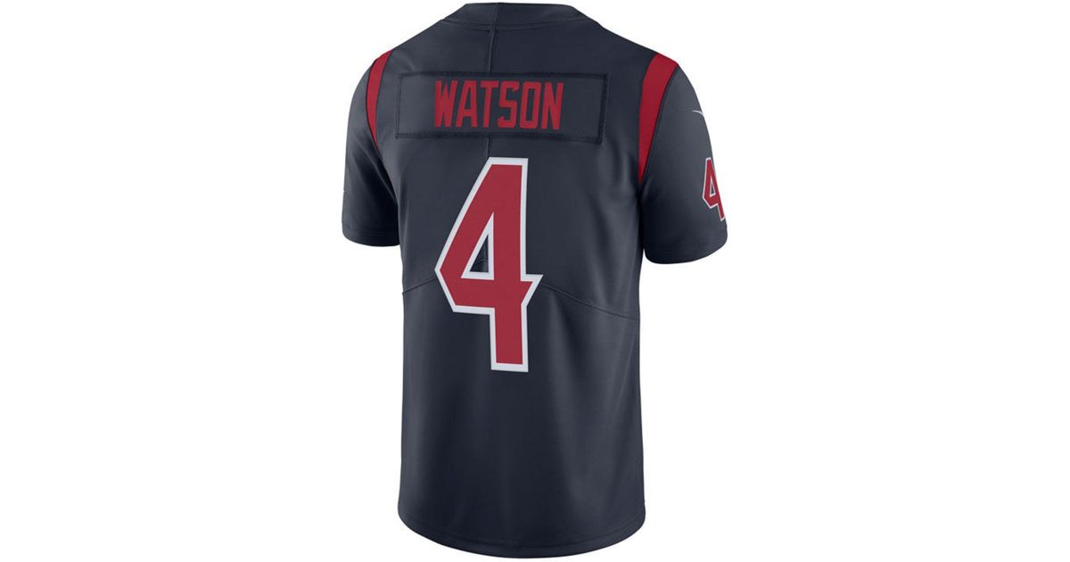 Lyst - Nike Deshaun Watson Houston Texans Limited Color Rush Jersey in Blue  for Men cfc38782f