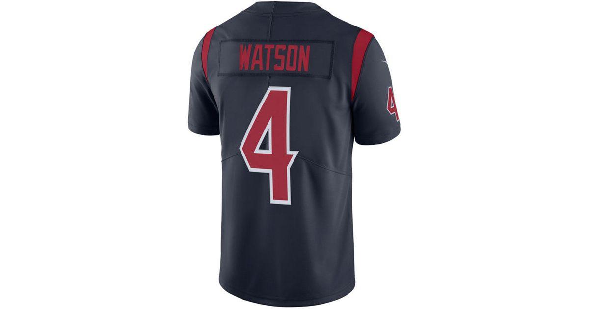 Nike Blue Deshaun Watson Houston Texans Limited Color Rush Jersey for men