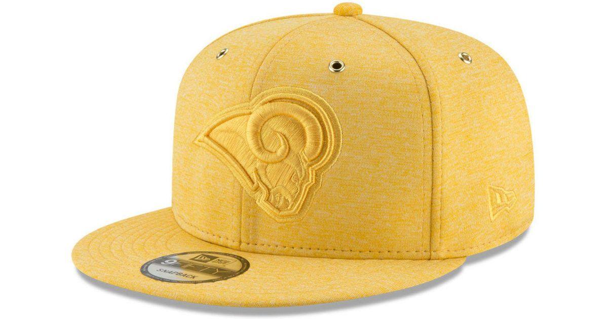 Lyst - KTZ Los Angeles Rams Tonal Heat 9fifty Snapback Cap in Yellow for Men 81604902a