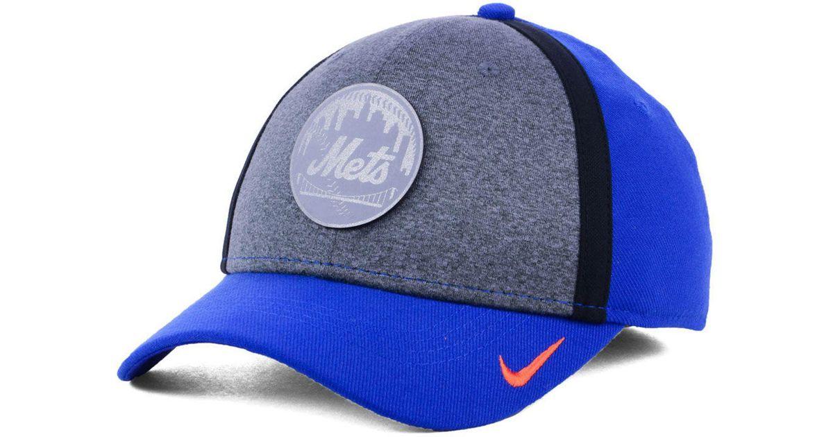 hot sale online 2e0bb 85493 Lyst - Nike New York Mets Team Color Reflective Swooshflex Cap in Blue for  Men