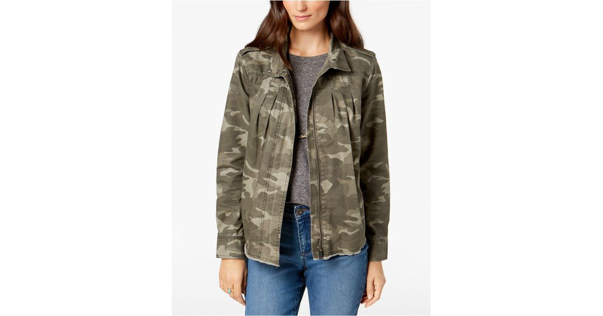 Style & Co. Petite Cotton Camo-print Jacket, Created For