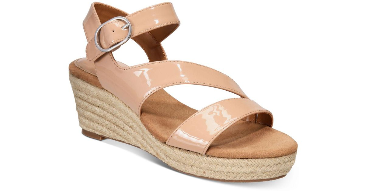 c65ab674b3c Lyst - Style   Co. Xenaa Platform Espadrille Wedge Sandals