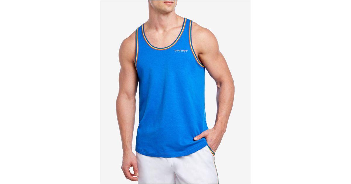 203720b4ccd2c Lyst - 2xist Rainbow Pride Tank Top in Blue for Men