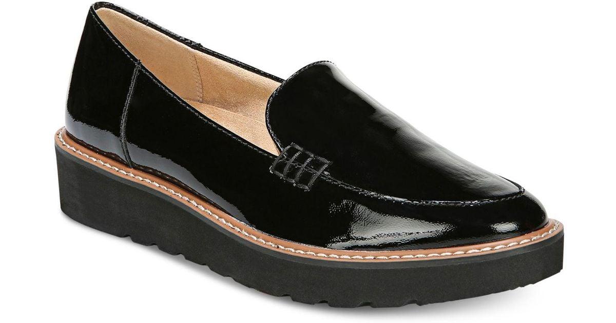 Andie Platform Loafers in Black Patent