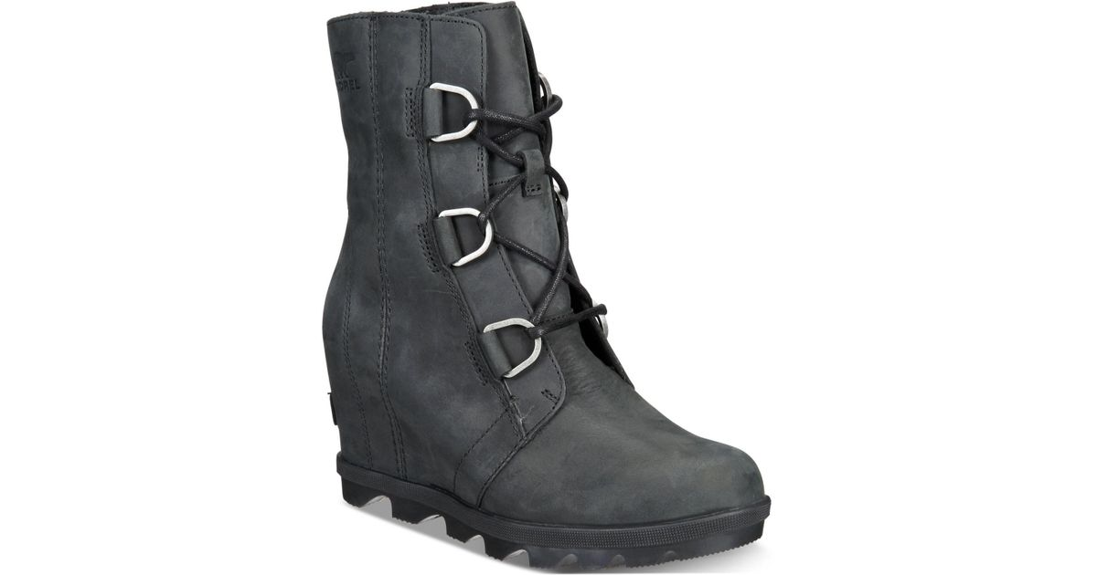 50013b25a08 Lyst - Sorel Joan Of Arctic Wedge Ii Waterproof Booties in Black