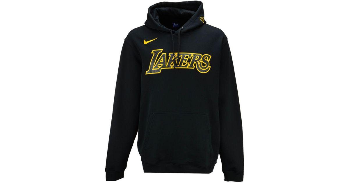 new style 7929c b1863 Nike Black Los Angeles Lakers City Club Fleece Hoodie for men