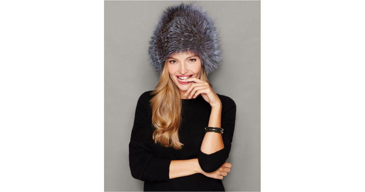 0e62f98a9fc Lyst - The Fur Vault Fox Fur Hat